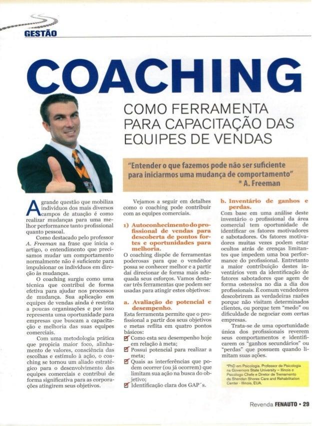 Coaching como ferramenta para capacitação das equipes de vendas