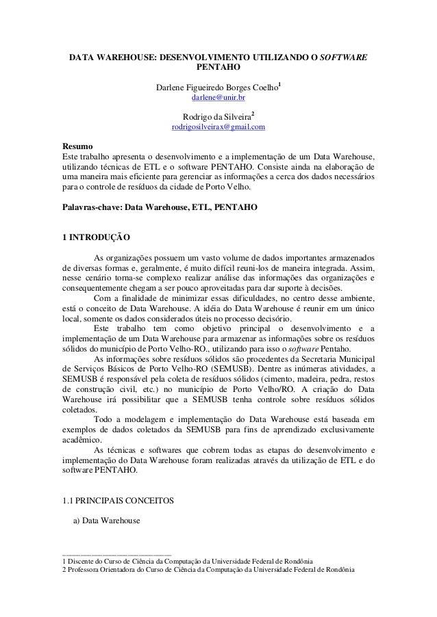 ______________________________ 1 Discente do Curso de Ciência da Computação da Universidade Federal de Rondônia 2 Professo...