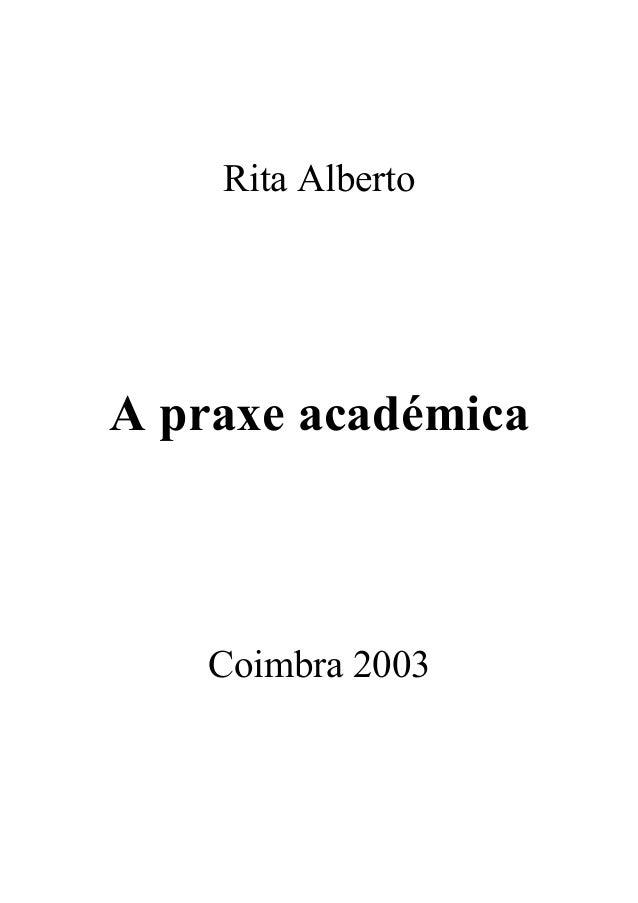 Rita Alberto A praxe académica Coimbra 2003