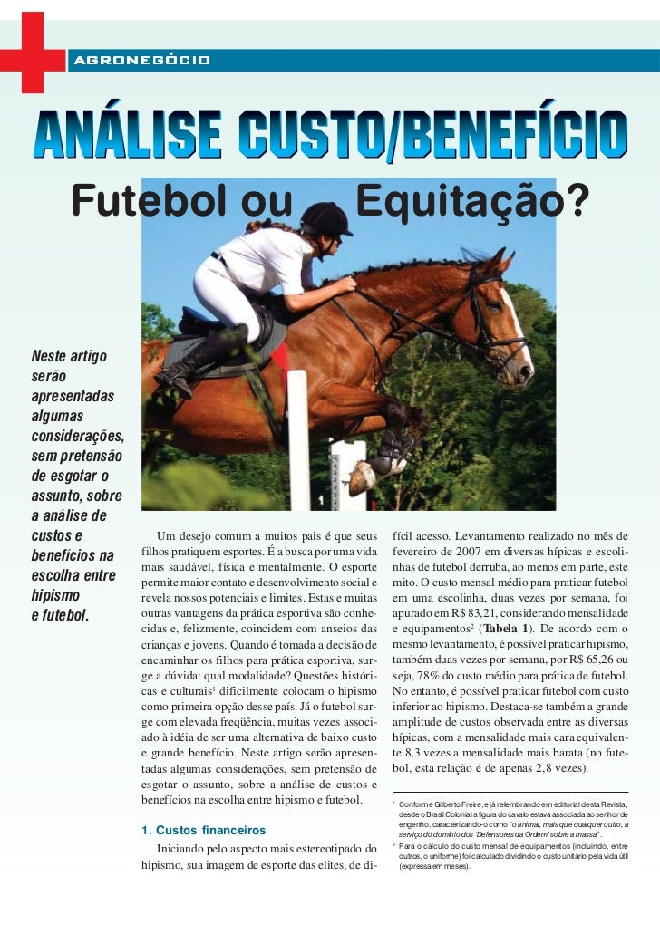 AGRONEGÓCIO     Futebol ou                                               Equitação?Neste artigoserãoapresentadasalgumascon...