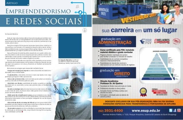 Artigo     Empreendedorismo     e redes sociais     Por Eduardo Maróstica                                                 ...