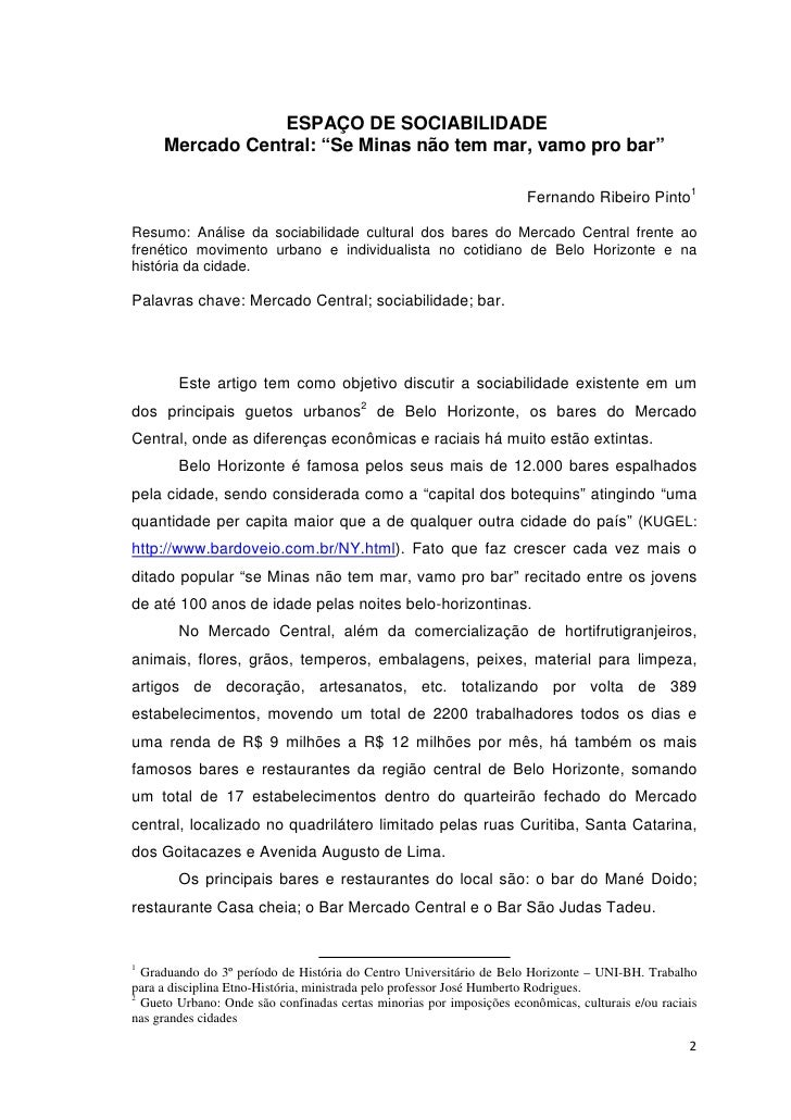 """ESPAÇO DE SOCIABILIDADE     Mercado Central: """"Se Minas não tem mar, vamo pro bar""""                                         ..."""