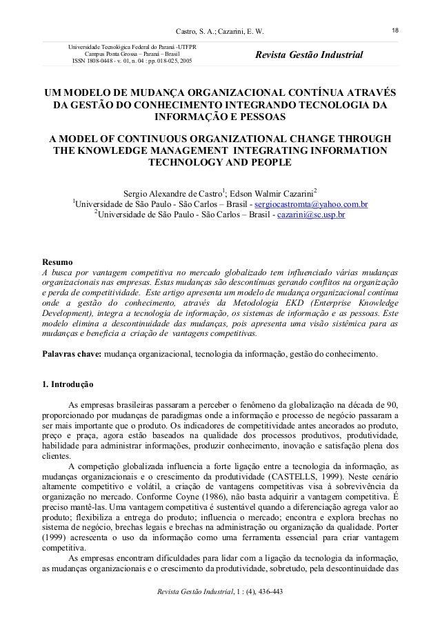 Castro, S. A.; Cazarini, E. W. 18Universidade Tecnológica Federal do Paraná -UTFPRCampus Ponta Grossa – Paraná – BrasilISS...