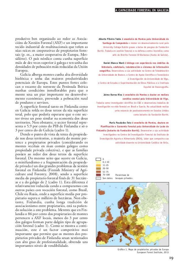 03 2 Alberte Piñeiro_02-2-González-alegre 15/10/13 09:58 Página 19  A CAPACIDADE FORESTAL EN GALICIA  produtivo ben organi...