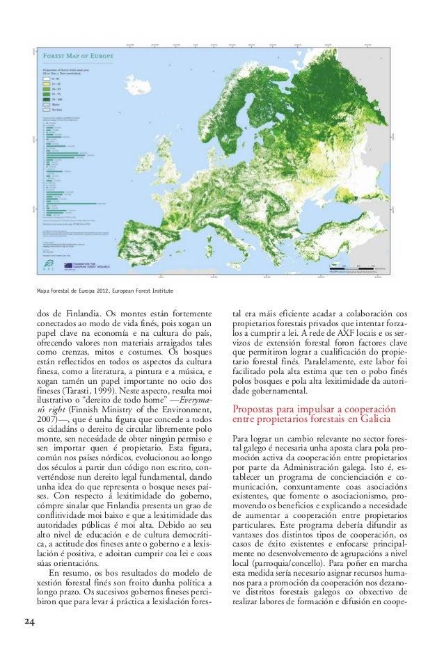 03 2 Alberte Piñeiro_02-2-González-alegre 15/10/13 09:58 Página 24  Mapa forestal de Europa 2012. European Forest Institut...