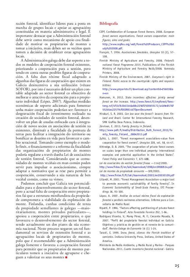 03 2 Alberte Piñeiro_02-2-González-alegre 15/10/13 09:58 Página 25  ración forestal, identificar líderes para a posta en m...