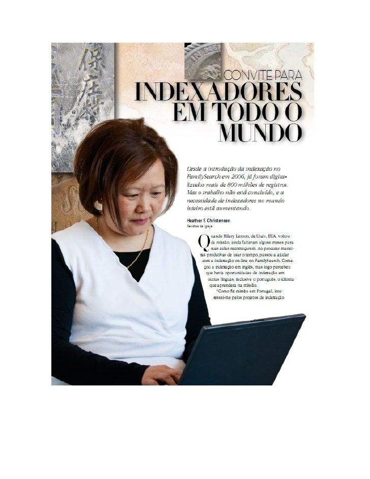 Artigo liah mar 2012 Convite para ser indexador