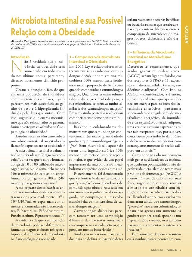 ArtigoMicrobiotaIntestinalesuaPossívelRelação com a ObesidadeAlessandra Rodrigues – Nutricionista, especialista em nutriçã...