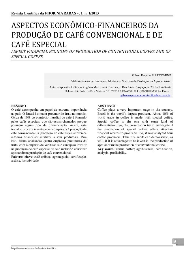 Revista Científica da FHO|UNIARARAS v. 1, n. 1/2013  http://www.uniararas.br/revistacientifica  5  ASPECTOS ECONO MICO-FIN...