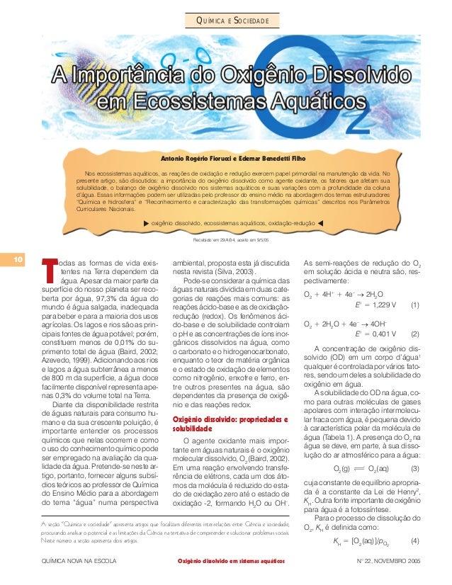 """10 QUÍMICA NOVA NA ESCOLA N° 22, NOVEMBRO 2005 QUÍMICA E SOCIEDADE A seção """"Química e sociedade"""" apresenta artigos que foc..."""