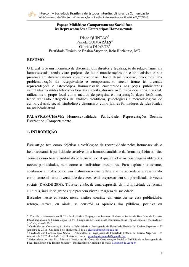 Intercom – Sociedade Brasileira de Estudos Interdisciplinares da Comunicação XVIII Congresso de Ciências da Comunicação na...
