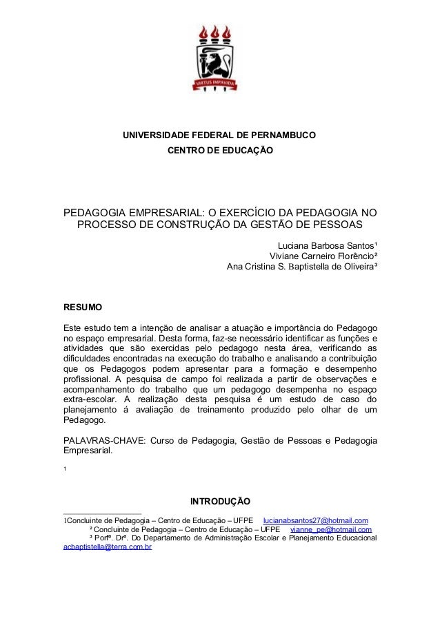 Artigo de pedagogia