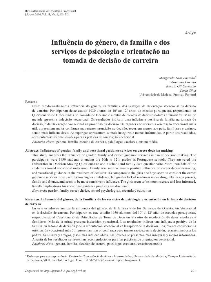 Revista Brasileira de Orientação Profissionaljul.-dez. 2010, Vol. 11, No. 2, 201-212                                       ...