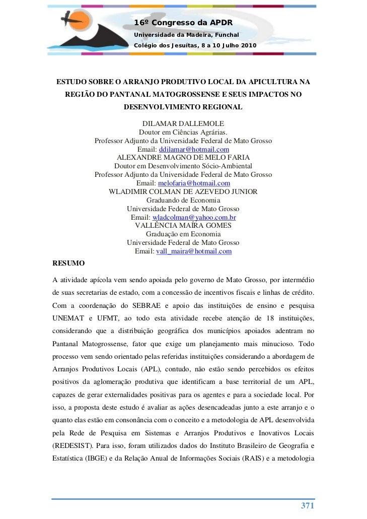 16º Congresso da APDR                           Universidade da Madeira, Funchal                           Colégio dos Jes...