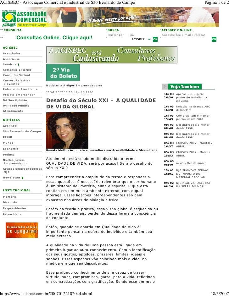 ACISBEC - Associação Comercial e Industrial de São Bernardo do Campo                                                      ...