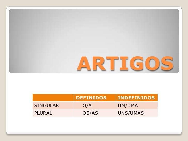 ARTIGOS<br />