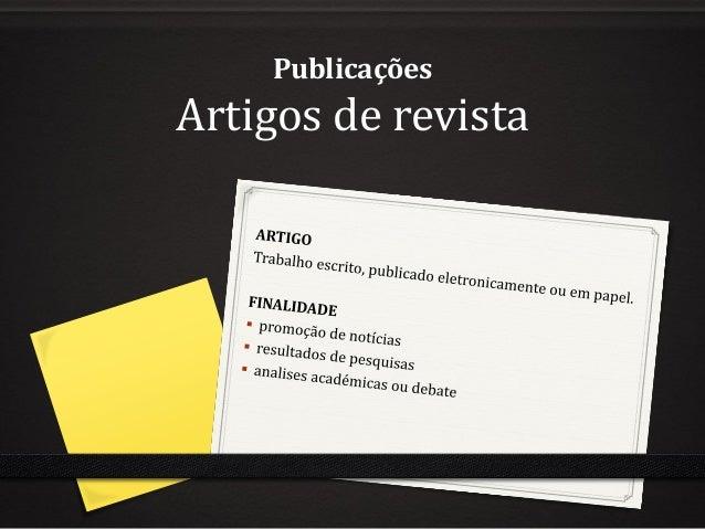 Publicações  Artigos de revista