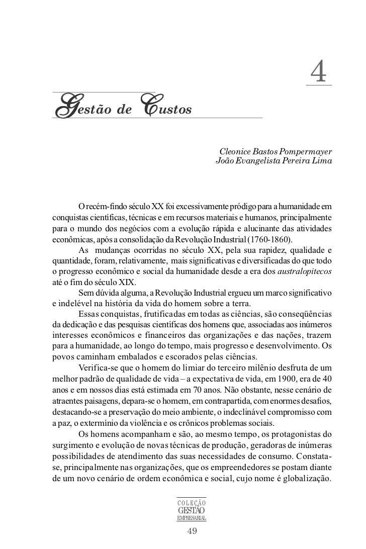 4Gestão de Custos                                                   Cleonice Bastos Pompermayer                           ...