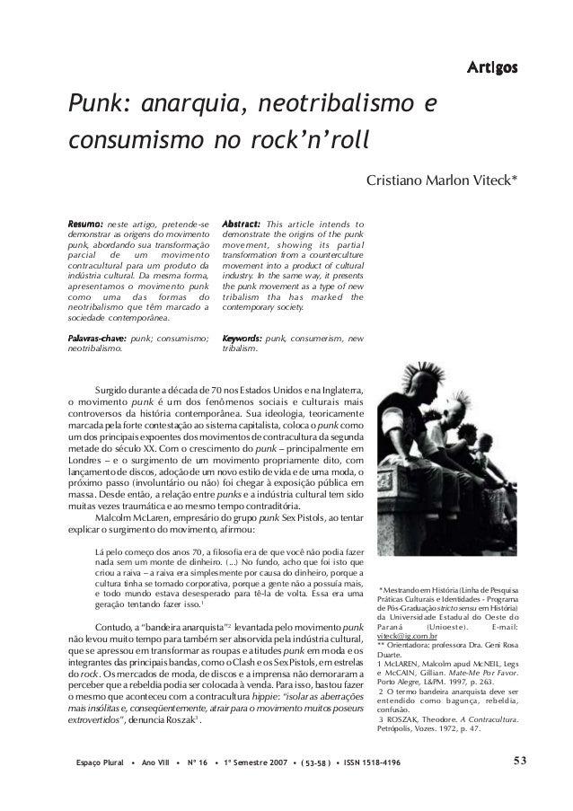 A rtigosPunk: anarquia, neotribalismo econsumismo no rock'n'roll                                                          ...