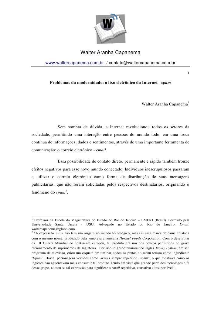 Walter Aranha Capanema        www.waltercapanema.com.br / contato@waltercapanema.com.br                                   ...