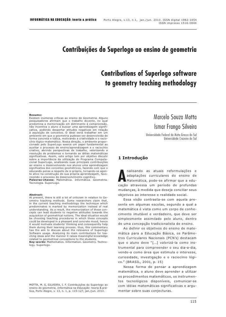 INFORMÁTICA NA EDUCAÇÃO: teoria & prática                   Porto Alegre, v.13, n.1, jan./jun. 2010. ISSN digital 1982-165...