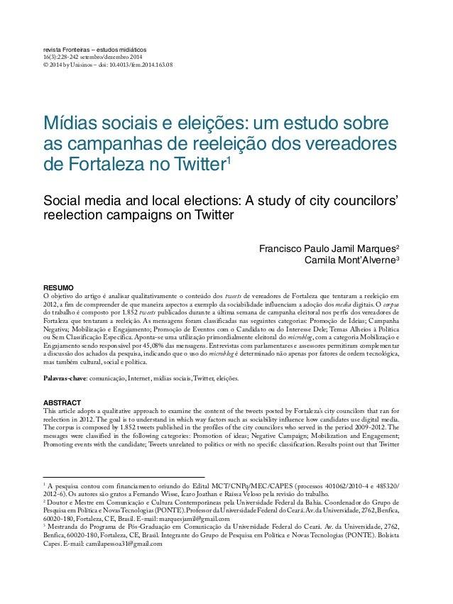 revista Fronteiras – estudos midiáticos 16(3):228-242 setembro/dezembro 2014 © 2014 by Unisinos – doi: 10.4013/fem.2014.16...