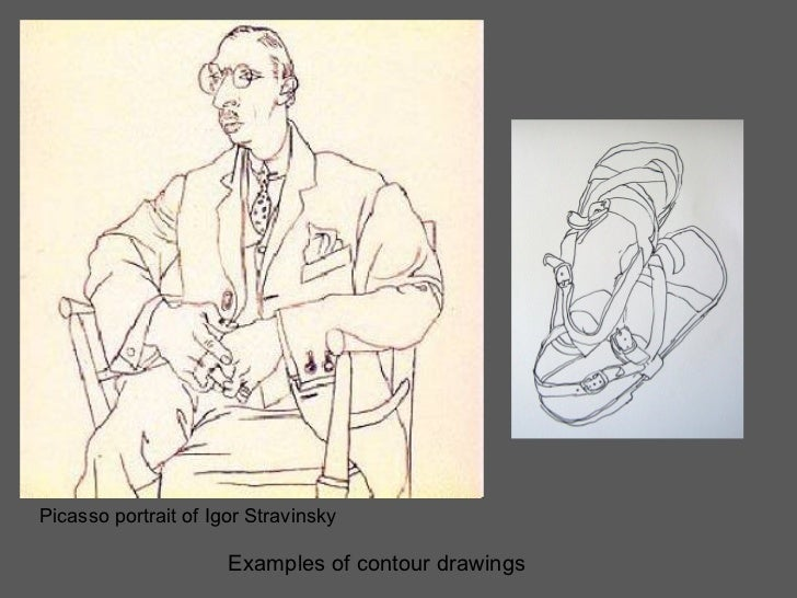 Contour Line Drawing Picasso : Art ii shattered image drawing instructions