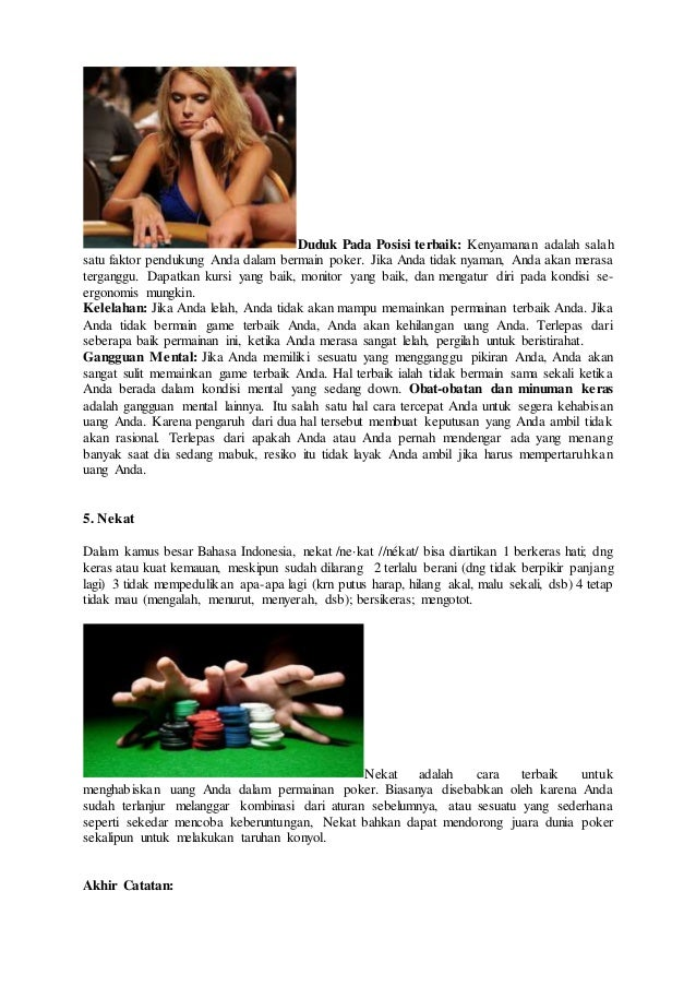 Tips jitu menang poker online