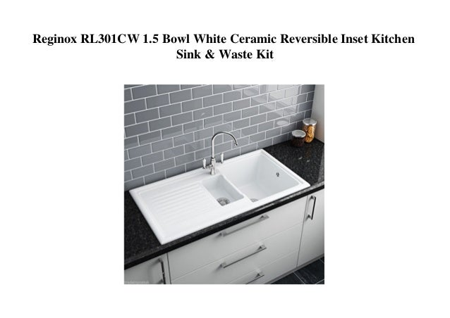 Reginox RL301CW 1.5 Bowl White Ceramic Reversible Inset Kitchen Sink…