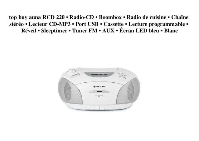 Top Buy Auna Rcd 220 Radio Cd Boombox Radio De Cuisine Chaine