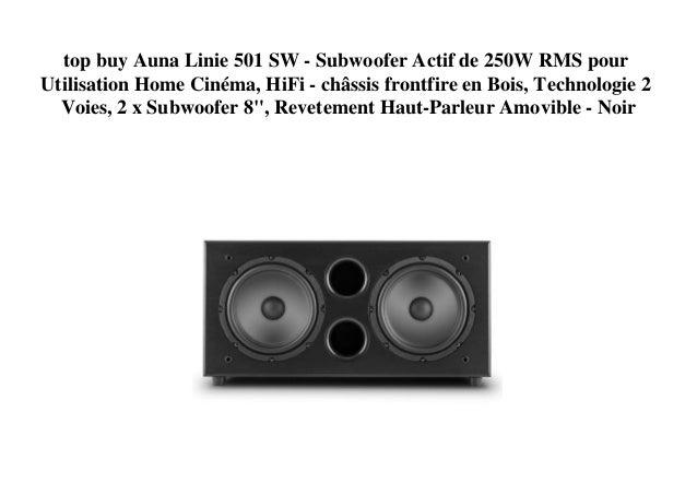 bad2c7ade0044 top buy Auna Linie 501 SW - Subwoofer Actif de 250W RMS pour Utilisation Home  Cinéma ...