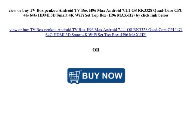 top buy TV Box penkou Android TV Box H96 Max Android 7 1 1