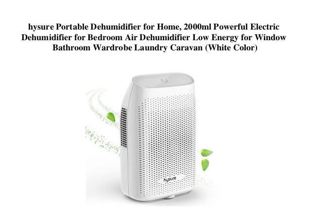 hysure Portable Dehumidifier for Home, 2000ml Powerful Electric Dehu…