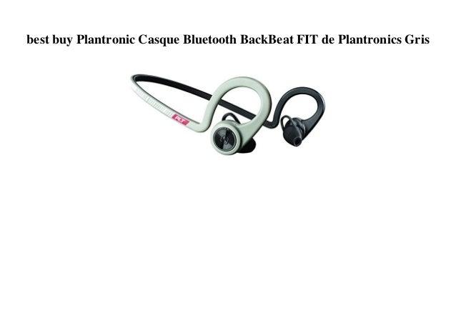 Best Buy Plantronic Casque Bluetooth Backbeat Fit De Plantronics Gris