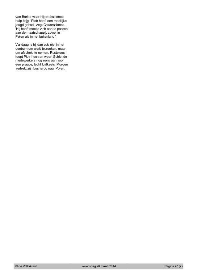 Volkskrant: Artikel barka vk 26 maart Slide 2