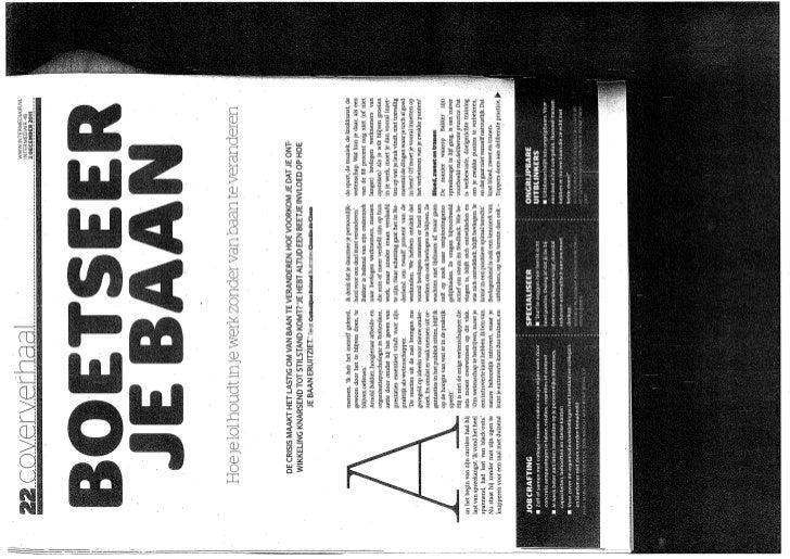 """Artikel """"Boetseer je baan"""" Intermediair 2011"""