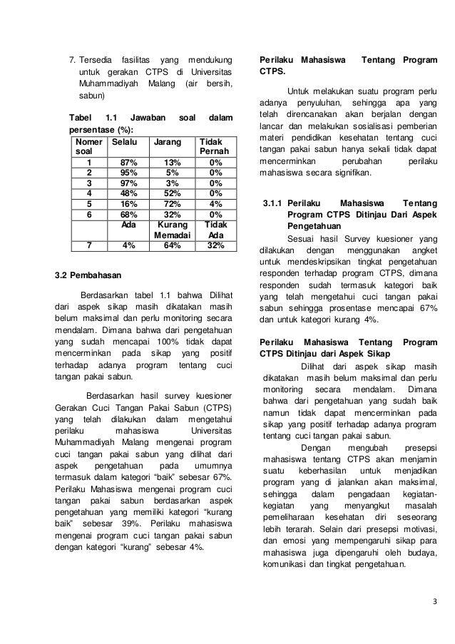 Contoh Artikel Empirik Cuci Tangan Pakai Sabun Ctps Mikrobiologi U