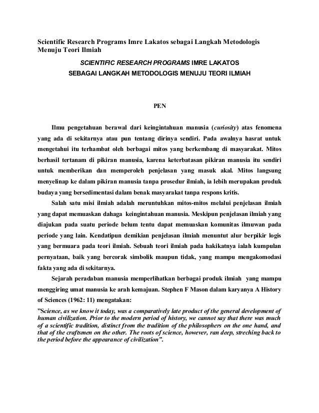 Artikel Filsafat Lakatos
