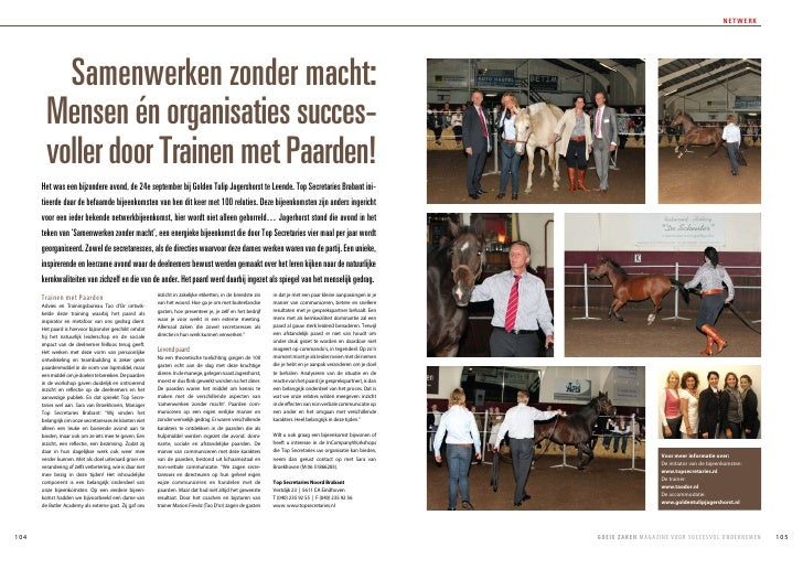 netwerk               Samenwerken zonder macht:         Mensen én organisaties succes-         voller door Trainen met Paa...