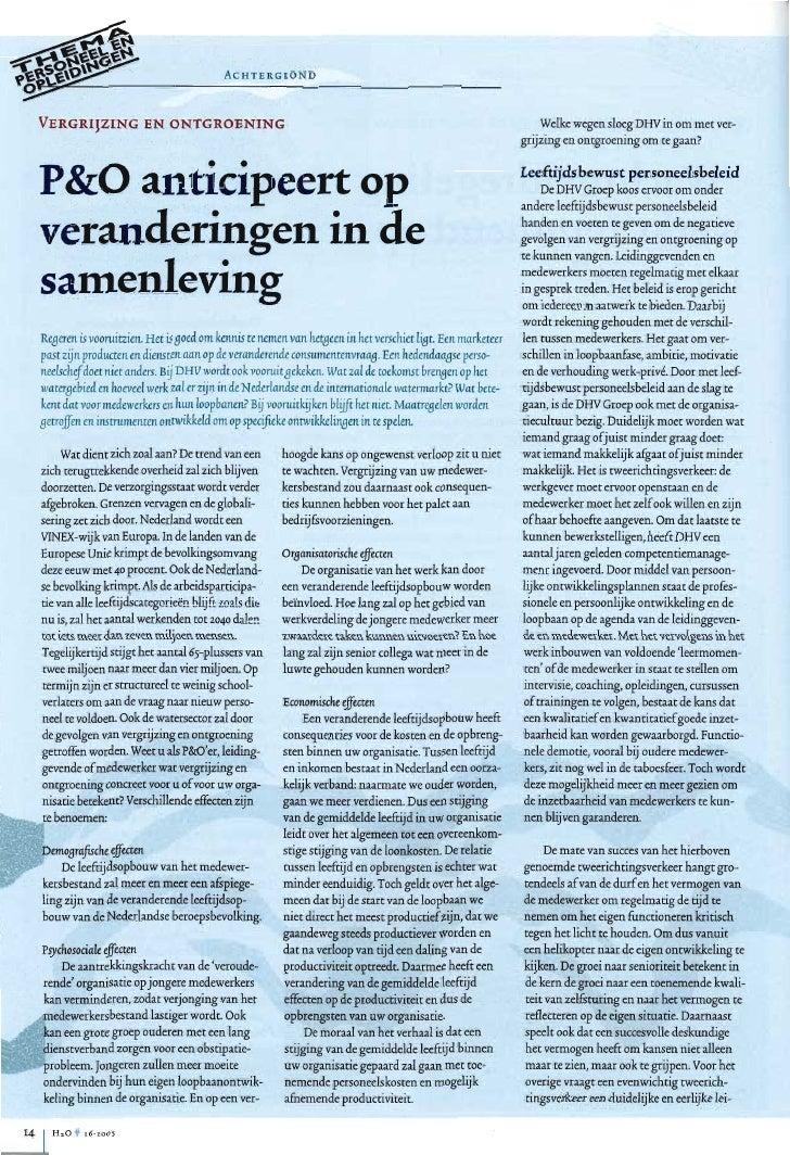 Artikel H2O over vergrijzing & ontgroening