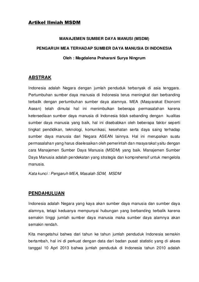 Artikel Ilmiah Msdm