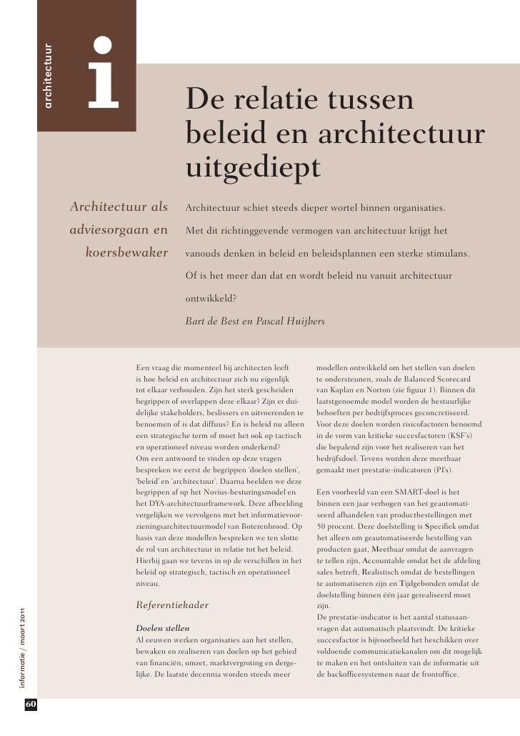 i                          architectuur                                                                  De relatie tussen...