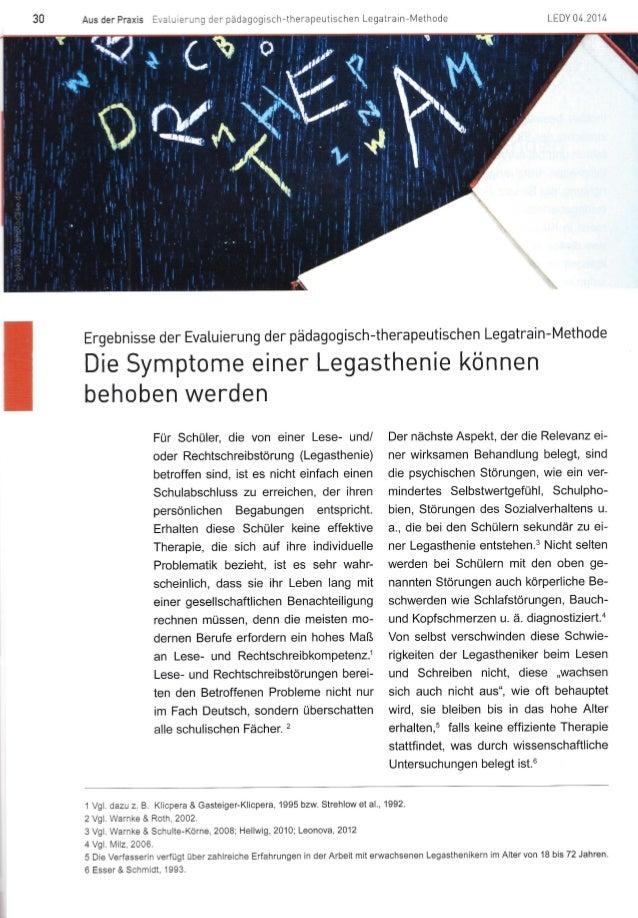Die Symptome einer Legasthenie können behoben werden.