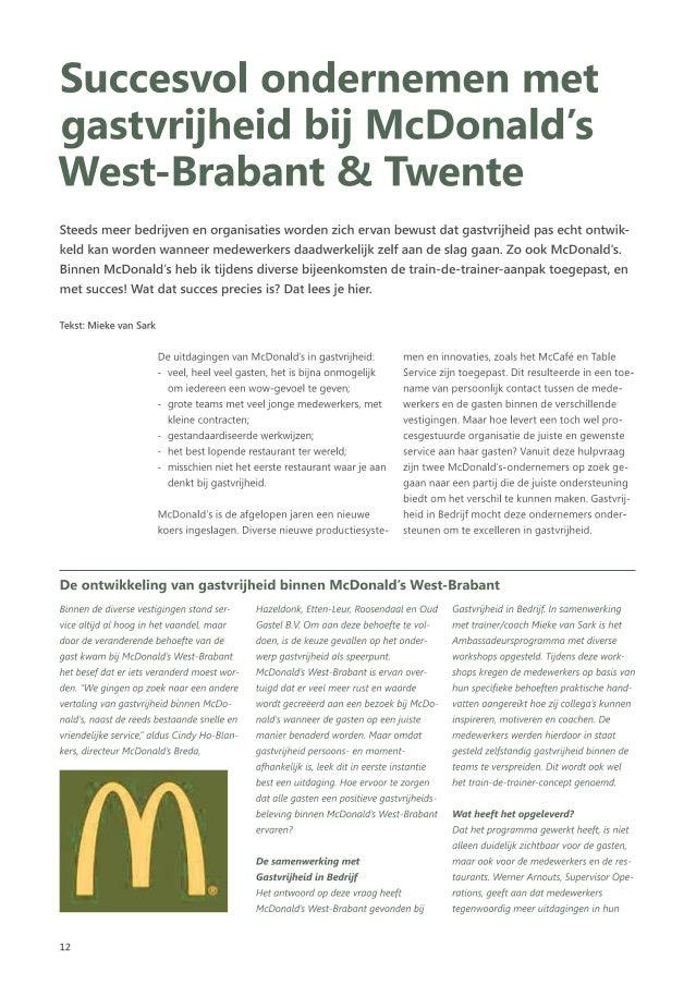 Succesvol ondernemen met gastvrijheid bij McDonald's