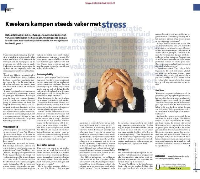 artikel om stress