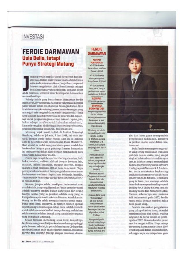 Ferdie Darmawan, Usia Belia tetapi Punya Strategi Matang