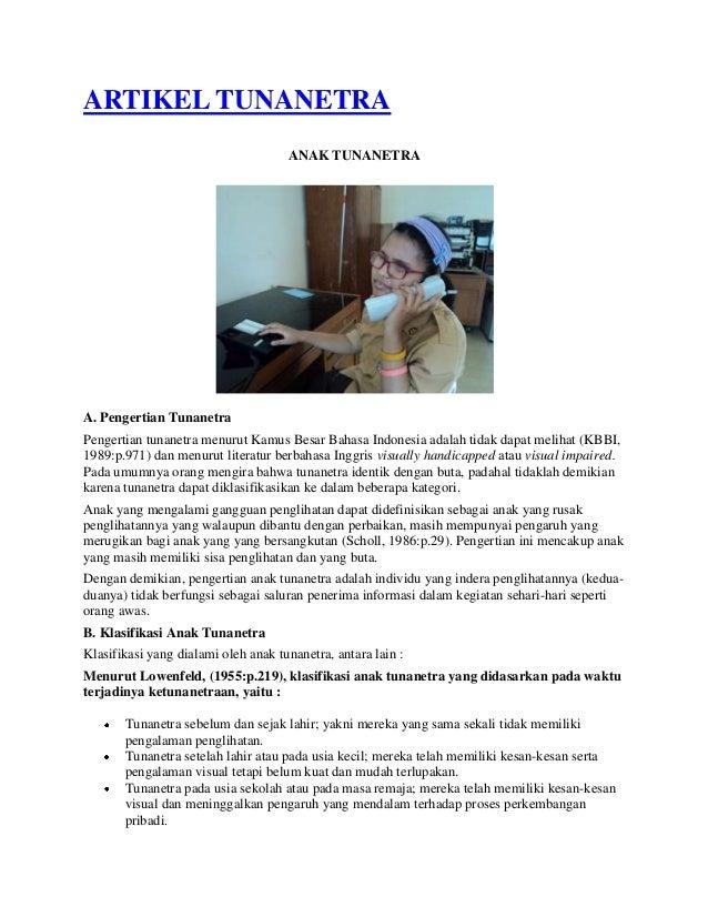 Artikel Tunanetra Trimurjoko