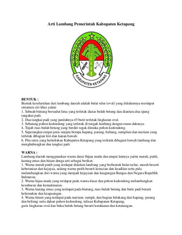 Arti Lambang Pemerintah Kabupaten Ketapang