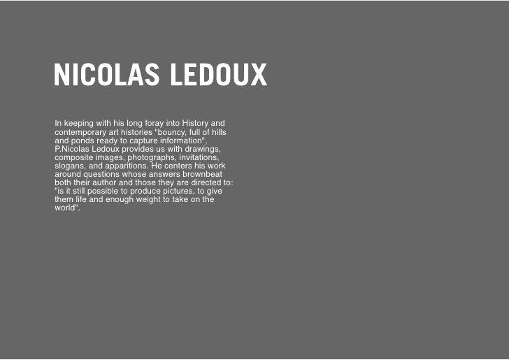 Nicolas Ledoux        Unknown title