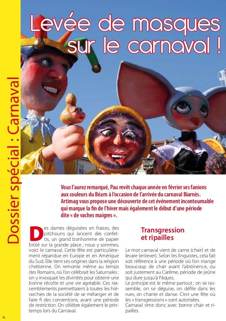 Levée de masques                                sur le carnaval !Dossier spécial : Carnaval                               ...